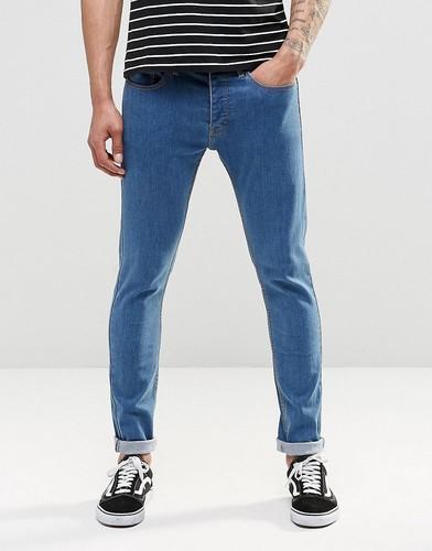 Выбеленные джинсы скинни LDN DNM - Синий