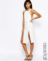 Платье-футляр миди из крепа с двойными бретельками ASOS TALL