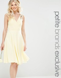 Платье миди для выпускного с отделкой на плечах TFNC Petite