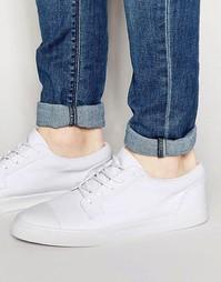 Белые парусиновые кеды на шнуровке со вставкой на носке ASOS - Белый