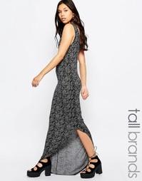Асимметричное платье макси Noisy May Tall - Серый меланж