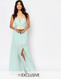 Платье макси с декорированной талией и складками TFNC WEDDING