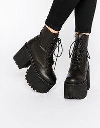 Черные ботинки на шнуровке UNIF Scoshe - Черный