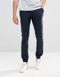 Супероблегающие темно-синие спортивные брюки ASOS - Темно-синий