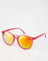 Круглые солнцезащитные очки Quay Australia - Красный