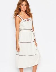 Платье с вышивкой Millie Mackintosh - Кремовый