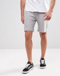 Трикотажные шорты с поясом на шнурке ADPT - Светло-серый меланж