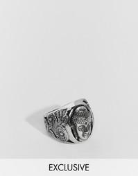 Кольцо с Буддой Reclaimed Vintage - Серебряный