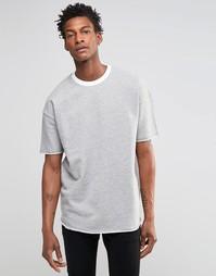 Трикотажная футболка с контрастной горловиной ADPT