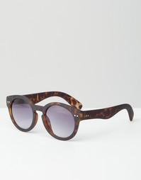 Круглые очки ASOS Keyhole - Черепаховый