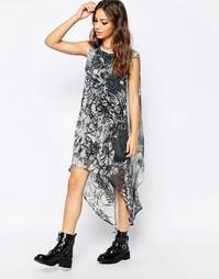 Платье макси Religion Illuminate - Темно-серый меланж