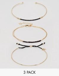 Комплект браслетов Pieces Bamio - Золотой