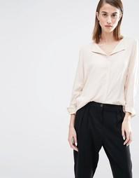 Рубашка с открытым воротом Selected Dynna - Дымчато-серый