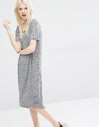 Платье-футболка миди Monki - Серый