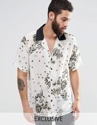 Полупрозрачная рубашка классического кроя с отложным воротником Reclai Reclaimed Vintage