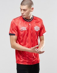 Футболка с круглым вырезом в стиле ретро Umbro - Красный