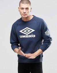 Свитшот с большим логотипом Umbro - Темно-синий