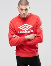 Свитшот с большим логотипом Umbro - Красный