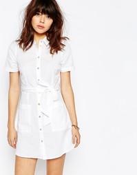 Льняное платье-рубашка ASOS - Белый