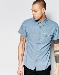 Рубашка с короткими рукавами в стиле вестерн Wrangler - Синий