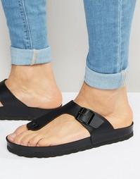 Черные сандалии с ремешком между пальцами ASOS - Черный