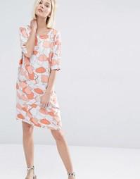 Платье с коралловым принтом Selected Tunni - Песок пустыни