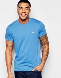 Синяя футболка Abercrombie & Fitch - Palace blue