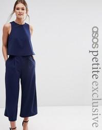 Юбка-шорты с широкими штанинами ASOS PETITE - Темно-синий