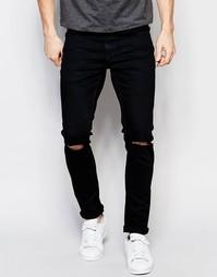 Черные супероблегающие джинсы Only & Sons - Черный