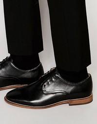 Черные кожаные туфли дерби ASOS - Черный