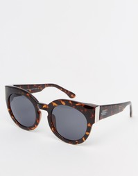 Массивные солнцезащитные очки Cheap Monday - Темно-черепаший