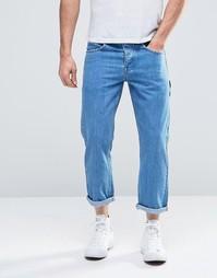 Укороченные прямые джинсы ASOS - Выбеленный синий