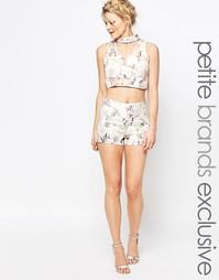 Жаккардовые шорты с цветочным принтом True Decadence Petite - Мульти
