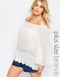Блузка с открытыми плечами Alice & You - Белый