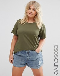 Футболка ASOS CURVE The Ultimate Easy - Зеленый