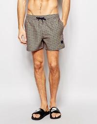 Короткие шорты для плавания Native Youth - Оранжевый