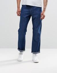 Синие прямые джинсы с карманами ASOS - Умеренный синий