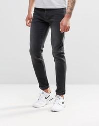 Черные выбеленные джинсы скинни из денима плотностью 12,5 ASOS