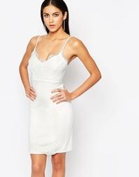 Кружевное платье-майка миди Lipsy - Белый