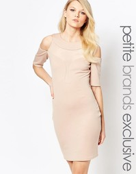 Облегающее платье с глубоким декольте и открытыми плечами John Zack Pe