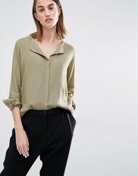 Рубашка с открытым воротом Selected Dynna - Алоэ