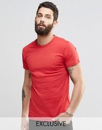Красная футболка слим с логотипом F Farah - Rectory