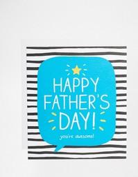 Открытка на День отца You're Awesome Happy Jackson - Мульти