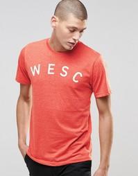 Футболка WeSC Sixtus - Красный