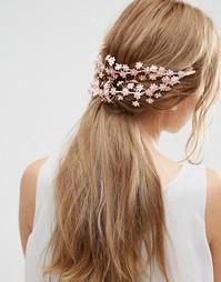 Украшение для волос с цветами ASOS Wedding - Blush