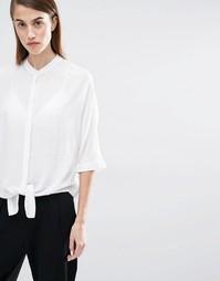 Рубашка с завязкой Selected Divis - Снежно-белый