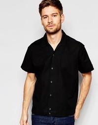 Рубашка классического кроя с отложным воротником ASOS Black - Черный