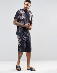 Пижамные шорты с цветочным принтом ASOS - Черный