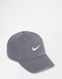Серая кепка с галочкой Nike 546126-065 - Серый