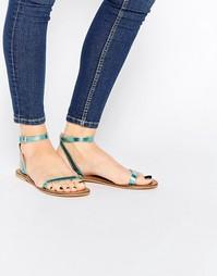 Кожаные сандалии ASOS FINLAY - Синий металлик